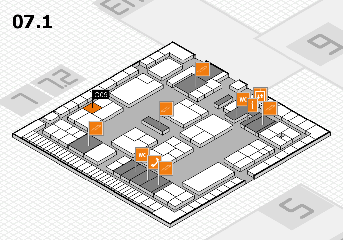 K 2016 hall map (Hall 7, level 1): stand C09