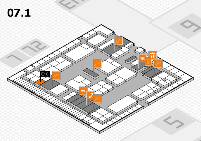 K 2016 hall map (Hall 7, level 1): stand E10