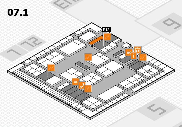 K 2016 Hallenplan (Halle 7, Ebene 1): Stand B12