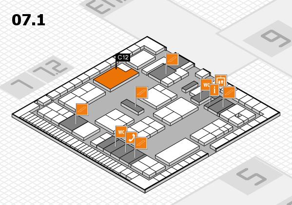 K 2016 hall map (Hall 7, level 1): stand C12