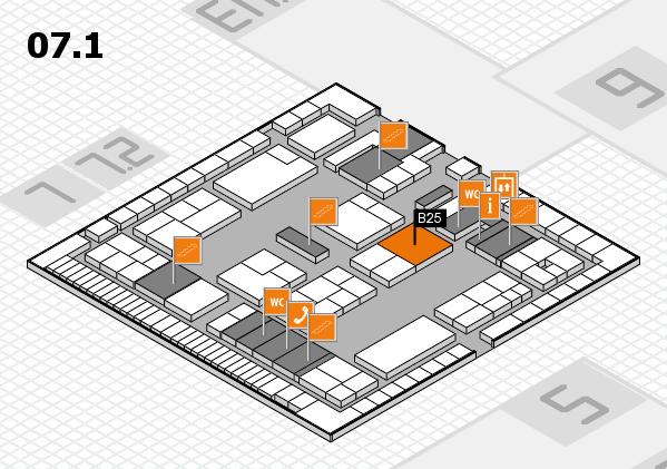 K 2016 hall map (Hall 7, level 1): stand B25