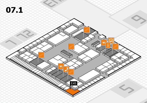 K 2016 Hallenplan (Halle 7, Ebene 1): Stand E45