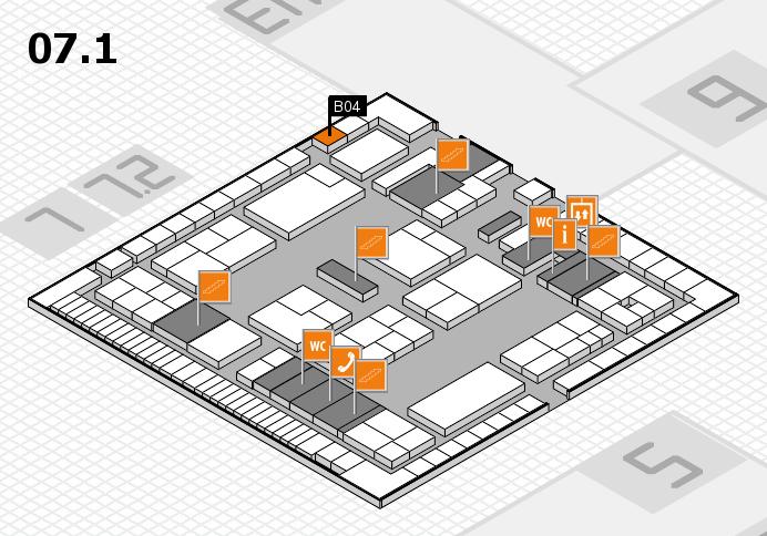 K 2016 hall map (Hall 7, level 1): stand B04