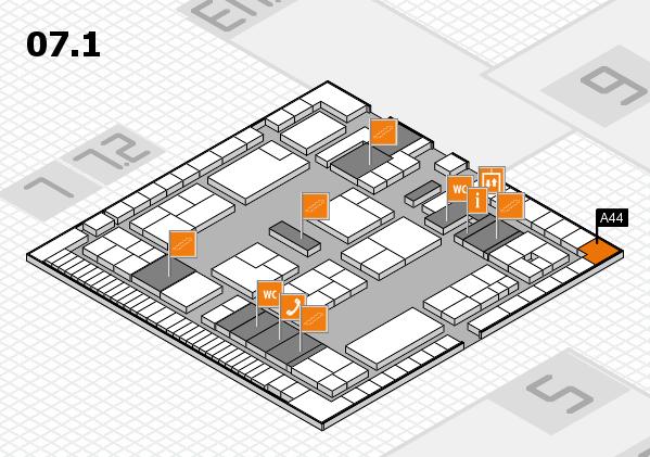 K 2016 Hallenplan (Halle 7, Ebene 1): Stand A44