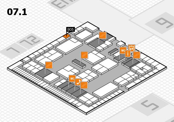 K 2016 Hallenplan (Halle 7, Ebene 1): Stand B05
