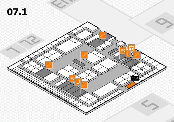 K 2016 Hallenplan (Halle 7, Ebene 1): Stand C54