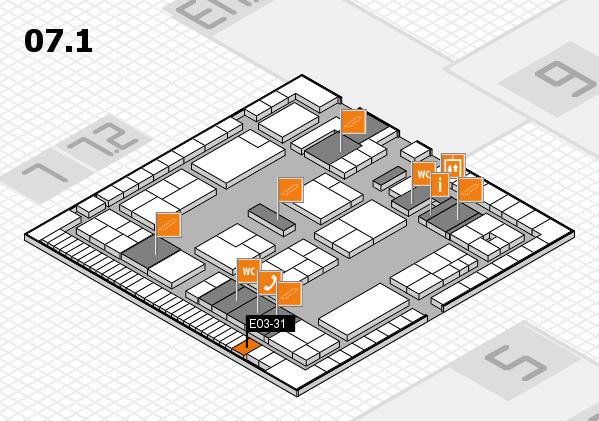 K 2016 Hallenplan (Halle 7, Ebene 1): Stand E03-31