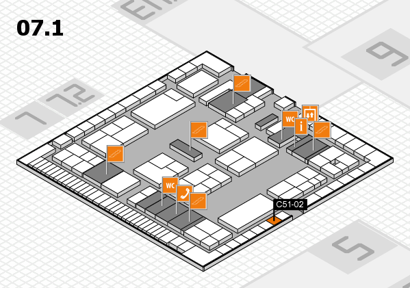 K 2016 hall map (Hall 7, level 1): stand C51-02