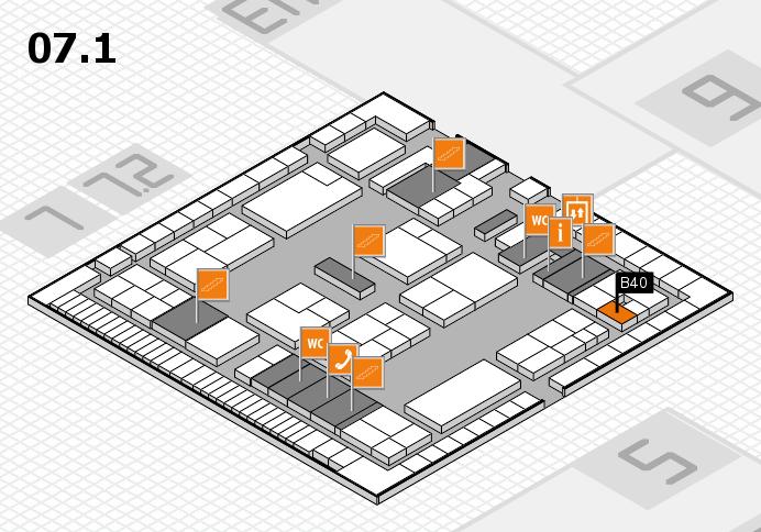 K 2016 Hallenplan (Halle 7, Ebene 1): Stand B40