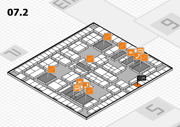 K 2016 hall map (Hall 7, level 2): stand C26