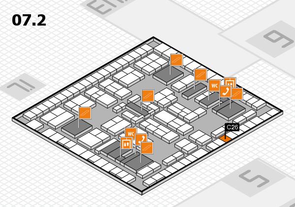 K 2016 hall map (Hall 7, level 2): stand C26