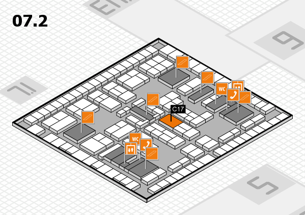 K 2016 hall map (Hall 7, level 2): stand C17