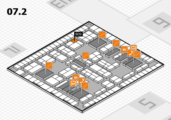 K 2016 hall map (Hall 7, level 2): stand B09