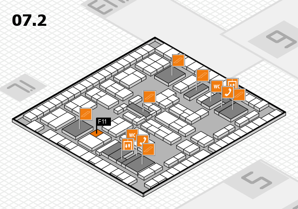 K 2016 hall map (Hall 7, level 2): stand F11