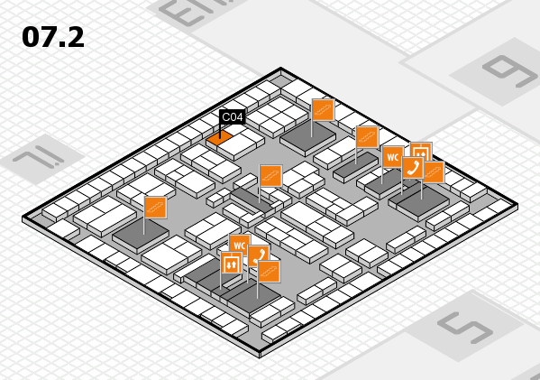 K 2016 hall map (Hall 7, level 2): stand C04