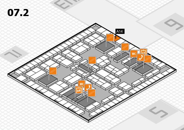 K 2016 Hallenplan (Halle 7, Ebene 2): Stand A14