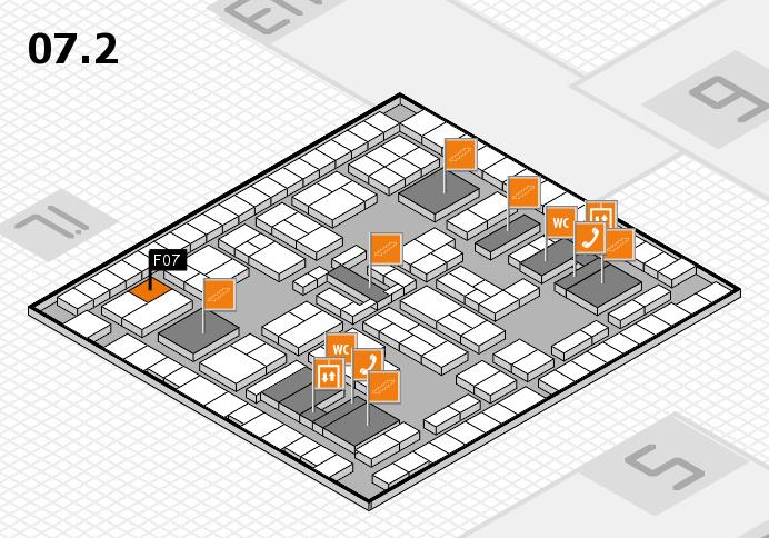 K 2016 hall map (Hall 7, level 2): stand F07