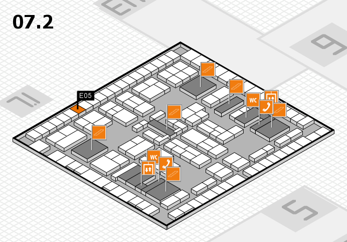 K 2016 hall map (Hall 7, level 2): stand E05