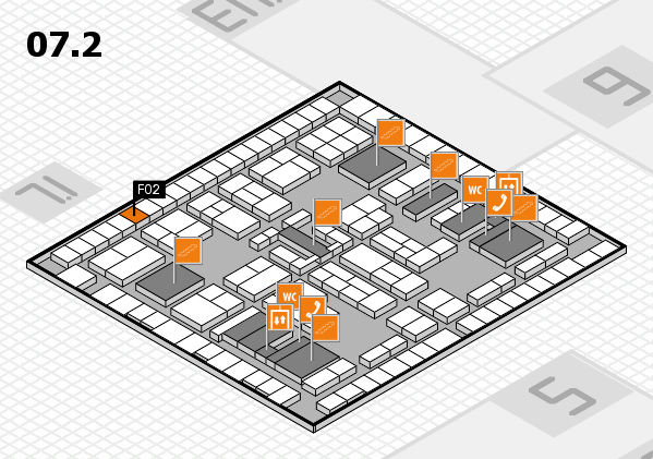 K 2016 hall map (Hall 7, level 2): stand F02