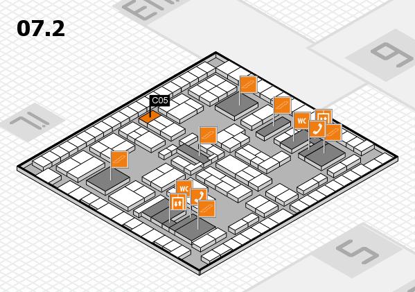 K 2016 hall map (Hall 7, level 2): stand C05