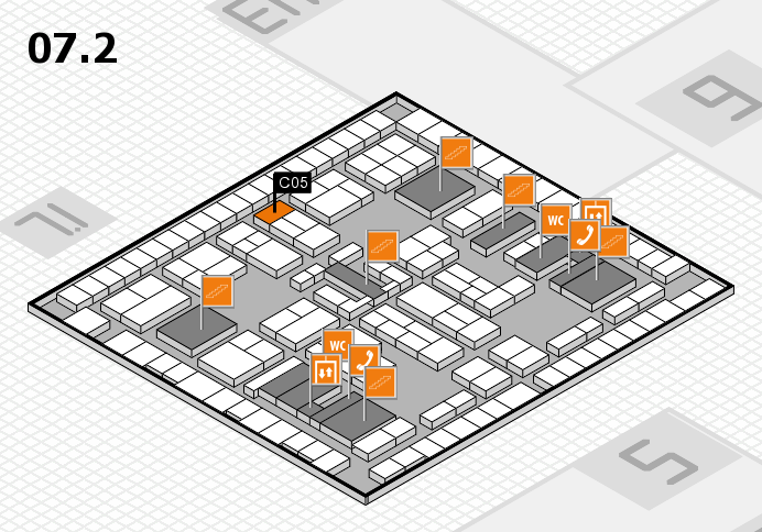 K 2016 hall map (Hall 7, level 2): stand C05