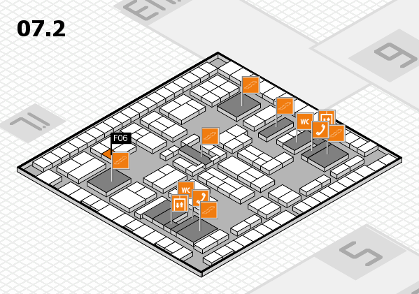 K 2016 hall map (Hall 7, level 2): stand F06