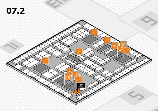 K 2016 hall map (Hall 7, level 2): stand G24