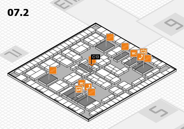 K 2016 hall map (Hall 7, level 2): stand C13