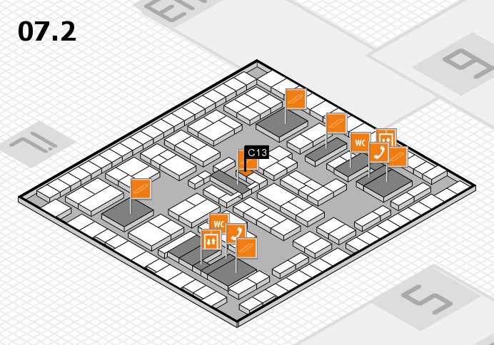 K 2016 hall map (Hall 7, level 2): stand C13