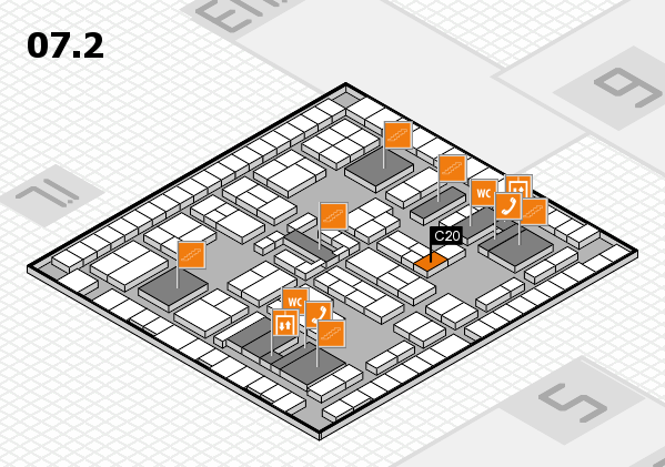 K 2016 hall map (Hall 7, level 2): stand C20