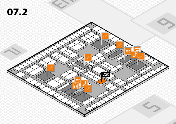 K 2016 Hallenplan (Halle 7, Ebene 2): Stand D20