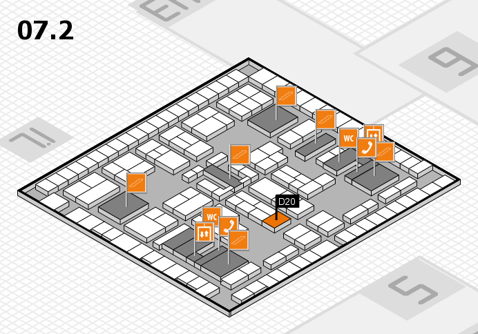 K 2016 hall map (Hall 7, level 2): stand D20