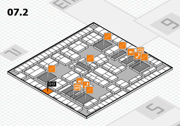 K 2016 hall map (Hall 7, level 2): stand G13