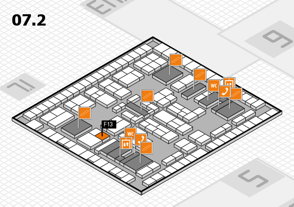K 2016 hall map (Hall 7, level 2): stand F13
