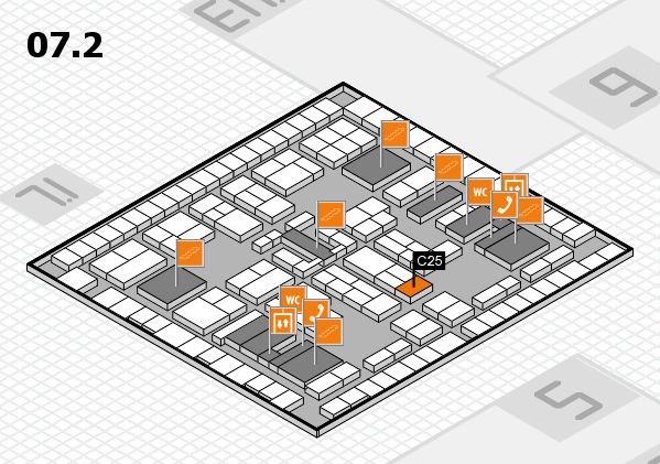 K 2016 hall map (Hall 7, level 2): stand C25