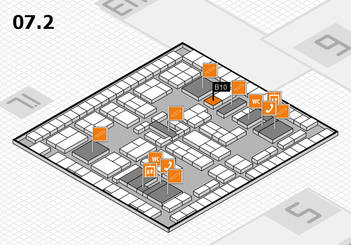 K 2016 hall map (Hall 7, level 2): stand B10