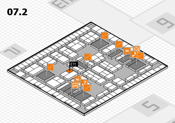 K 2016 hall map (Hall 7, level 2): stand E11