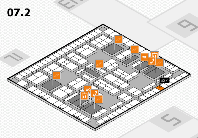 K 2016 hall map (Hall 7, level 2): stand B27