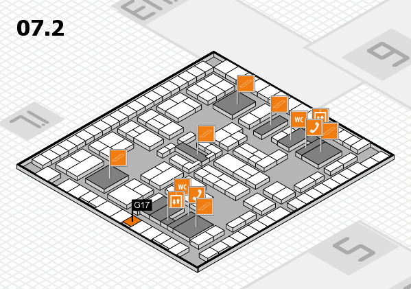 K 2016 hall map (Hall 7, level 2): stand G17