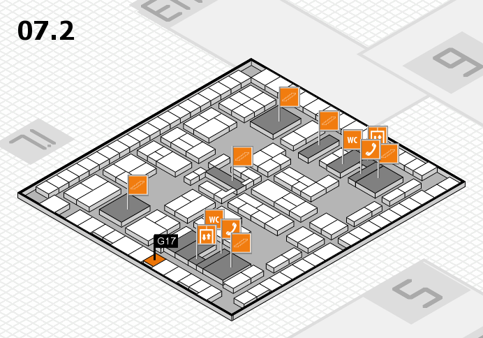 K 2016 hall map (Hall 7, level 2): stand G17