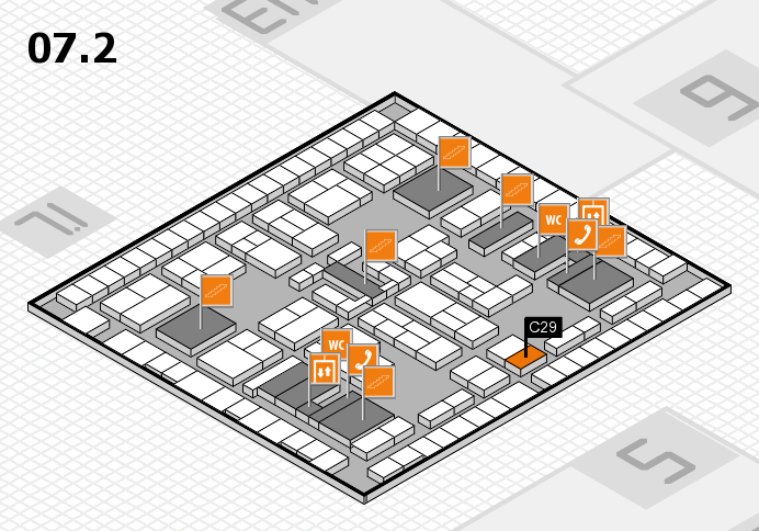 K 2016 hall map (Hall 7, level 2): stand C29