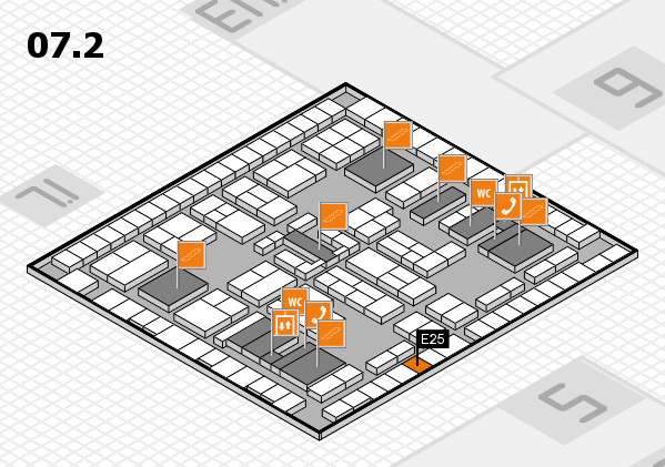 K 2016 hall map (Hall 7, level 2): stand E25
