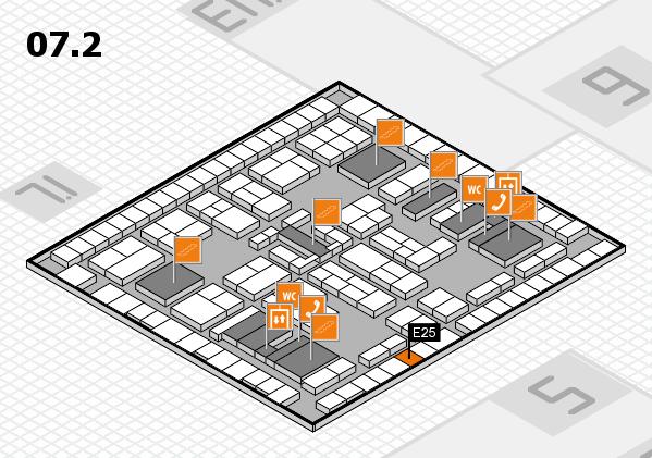 K 2016 hall map (Hall 7, level 2): stand E25