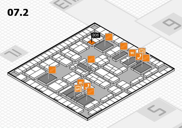 K 2016 hall map (Hall 7, level 2): stand B06