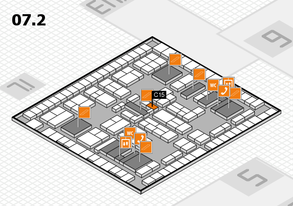 K 2016 hall map (Hall 7, level 2): stand C15
