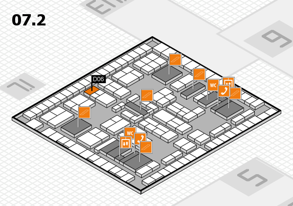 K 2016 hall map (Hall 7, level 2): stand D06