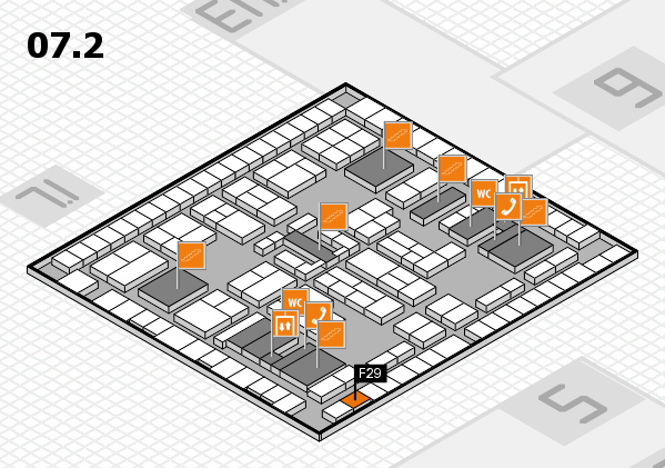 K 2016 hall map (Hall 7, level 2): stand F29