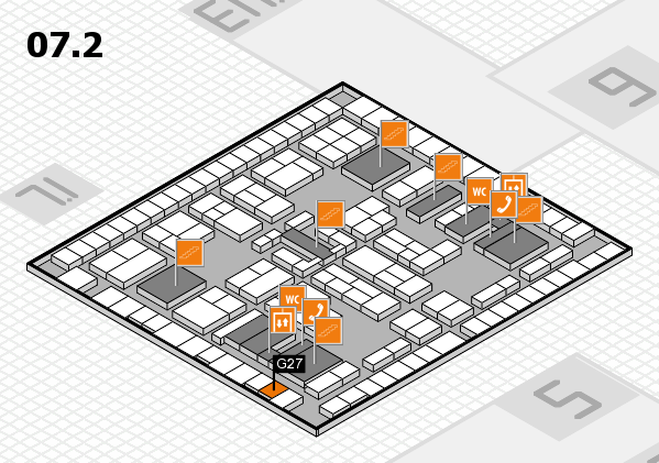 K 2016 hall map (Hall 7, level 2): stand G27