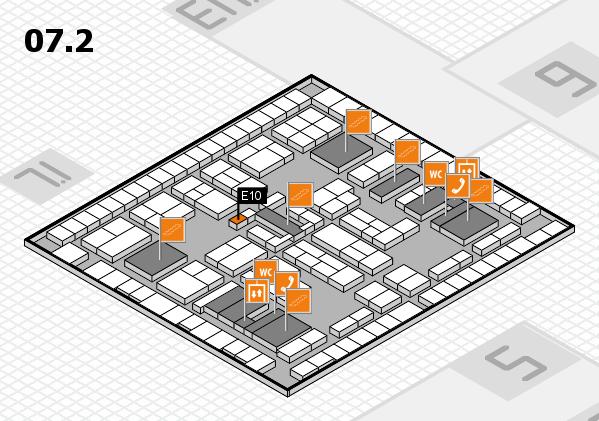 K 2016 hall map (Hall 7, level 2): stand E10