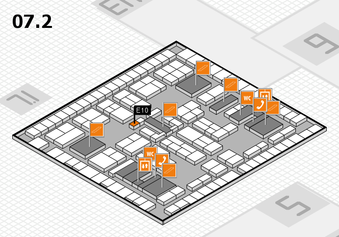 K 2016 hall map (Hall 7, level 2): stand E10